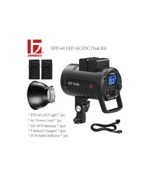 JINBEI ILLUMINATORE KIT 2 TO-GO EFFII-60 LED (2 LED+ACCESSORI)