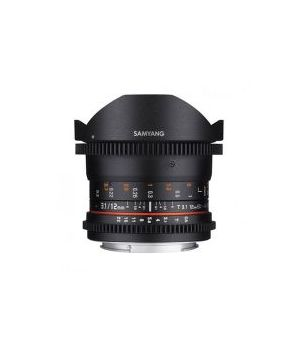 SAMYANG 12MM  T3.1 VDSLR ED AS NCS FULL-FRAME  FISHEYE (CANON) ^