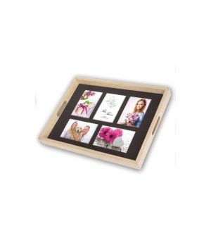 ZEP PORTAFOTO VASSOIO PHOTO TRAY NATURAL 5X10X15 (45X35) W0099