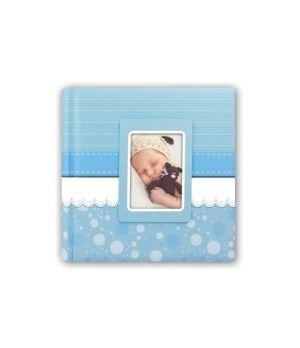 ZEP ALBUM BIMBO FOGLIO 24X24/20 VELINA + SCATOLA CINZIA BLUE GE242420B