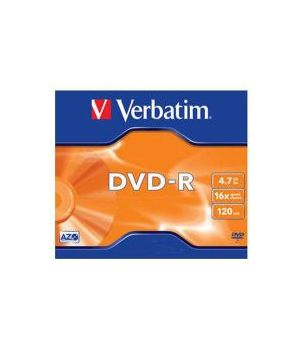 VERBATIM DVD-R JEWEL 16X 4,7GB 43519