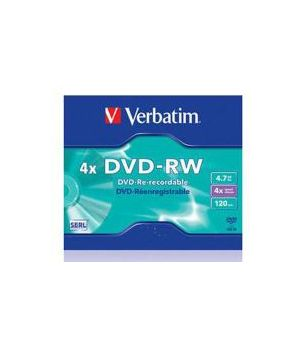 VERBATIM DVD-RW RE-RECORDABLE JEWEL 4X 4,7GB 43284/43285