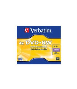 VERBATIM DVD+RW REWRITABLE JEWEL 4X 4,7GB 43228
